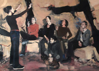 0400_Pola_Dwurnik_School_of_Smoking _or_Concert_in_A_Cave_2009_oil_canvas_150x210cm